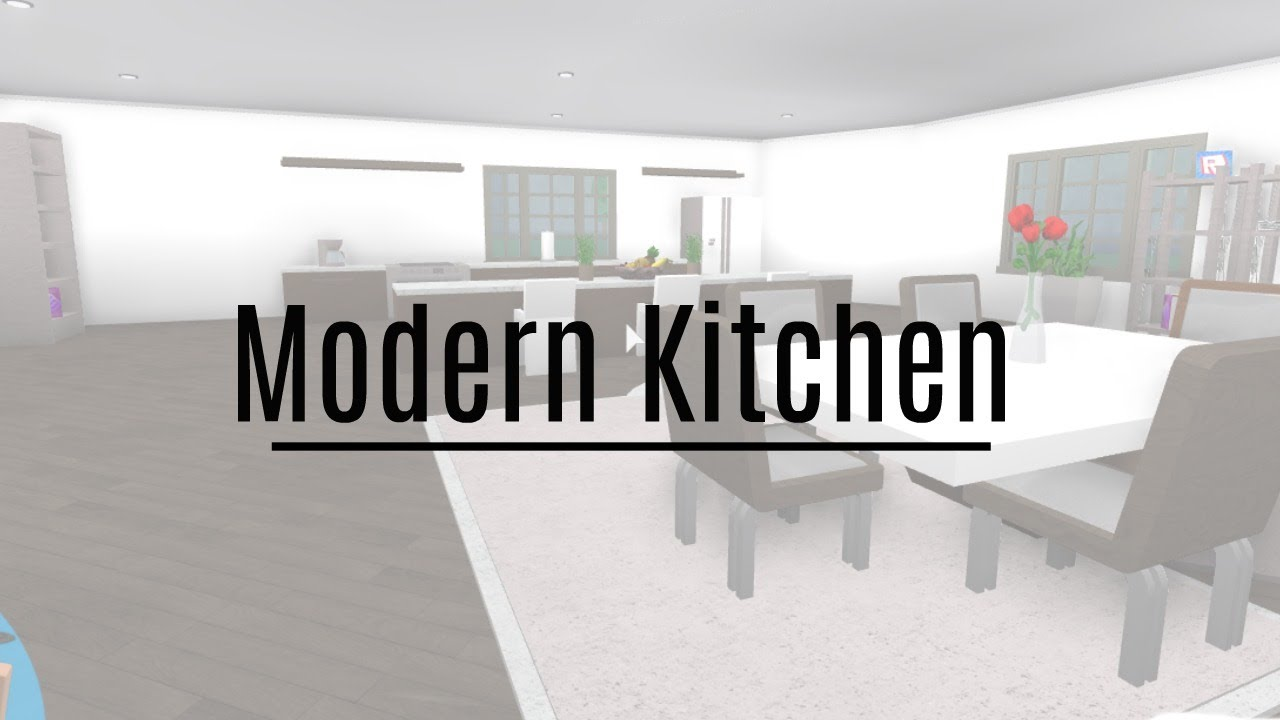 Roblox welcome to bloxburg modern kitchen youtube for Kitchen designs bloxburg