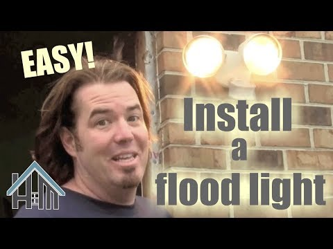 installing outdoor motion sensor lights with michael go