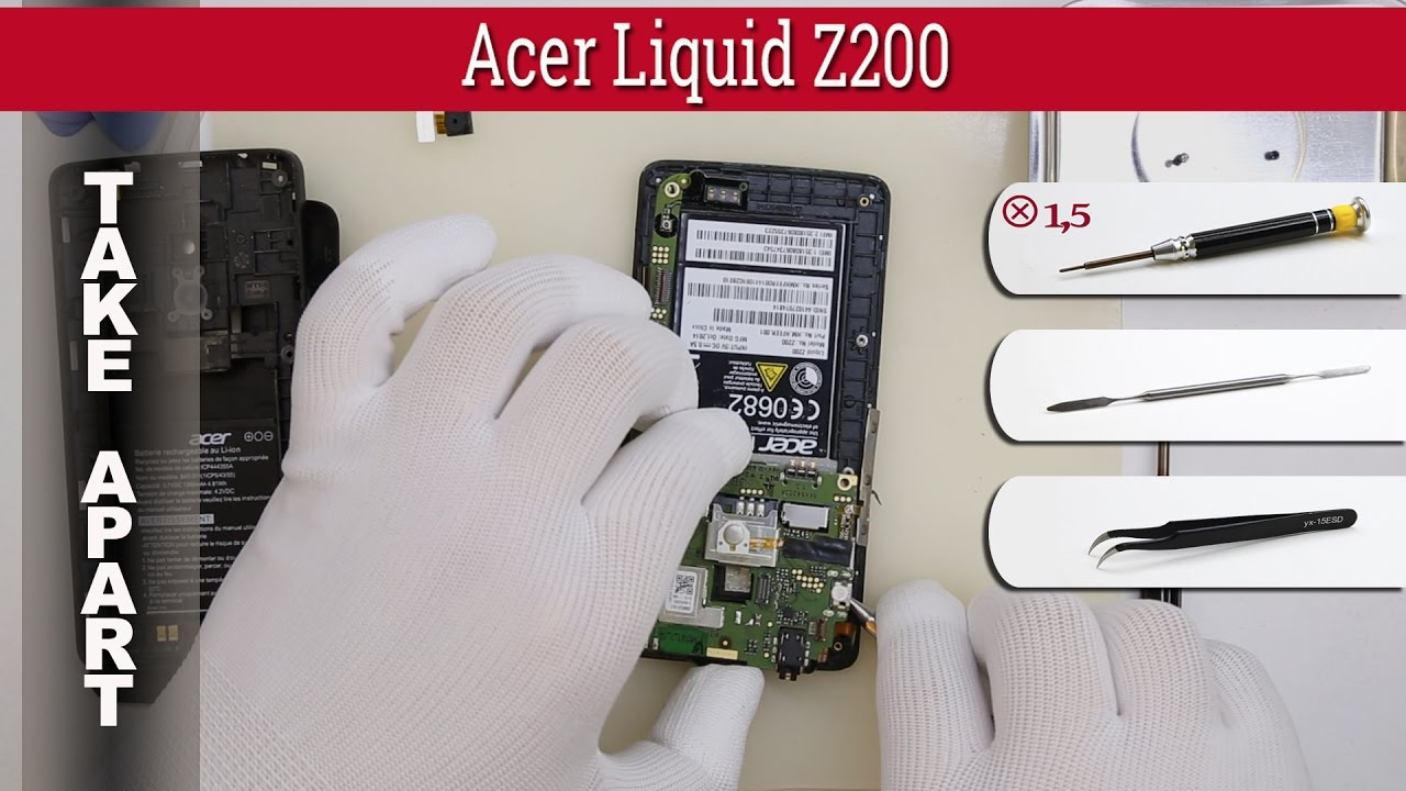 How To Disassemble Acer Liquid Z200 Take Apart Tutorial