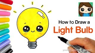 How to Draw a Light Bulb Cute and Easy