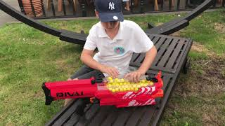 Nerf Rival Nemesis MXVII-10K Unboxing, Review, & Firing Demo