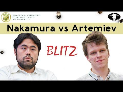 Blunder alert! | Nakamura vs Artemiev | | World Blitz Championship 2019 |