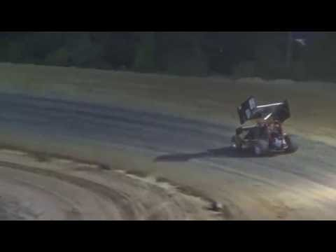 Sprints on Dirt B Feature at Crystal Motor Speedway, Michigan on 07-16-16.