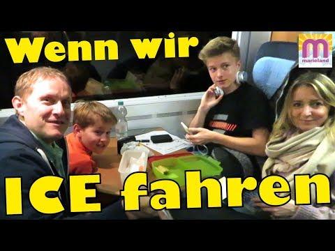 Das passiert wenn wir Zug fahren 😍 Im ICE der Deutschen Bahn 🚂 marieland Vlog# 141