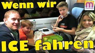 Wenn wir Zug fahren 🚂 6 Std. im ICE der Deutschen Bahn 😍 marieland Vlog# 141
