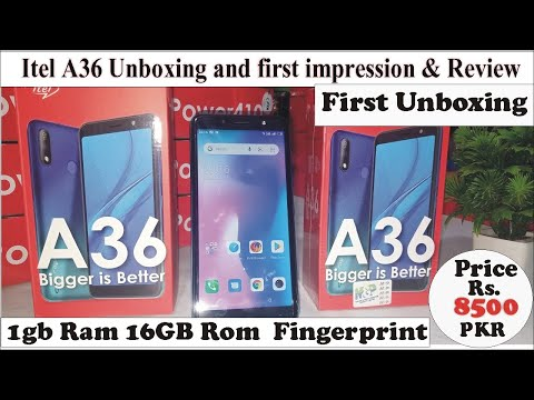 itel A36 Unboxing first impression and quick review 🔥🔥First unboxing in Pakistan.