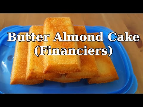 Save extra egg whites, Make Financiers! (almond cakes)