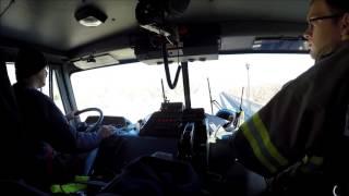 BVFD Ladder 3 Responding 2/11/16, (Ride Along)