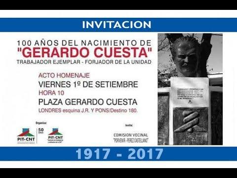 PIT-CNT Homenaje a Gerardo Cuestas 1-9-2017