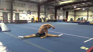 STRETCHING ROUTINE AND WARM UP ROUTINE FOR GYMNASTICS AND CHEER - How to Stretch and Stretches