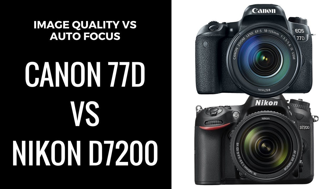Confused BETWEEN Canon 77D & Nikon D7200? Image Quality VS Auto Focus