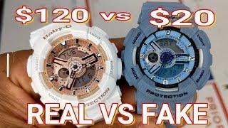 REAL $120 BABY-G SHOCK WATCH VS FAKE $20 BABY-G SHOCK WATCH (G-SHOCK WATCH)