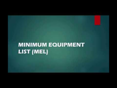 Minimum Equipment List  MEL Part 1