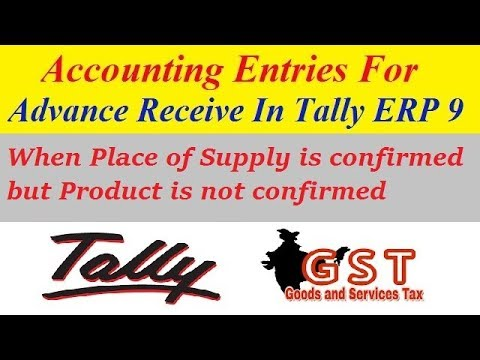 gst on advance receipt in tally advance payment received entry