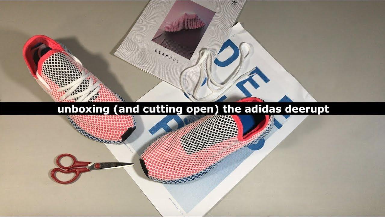 01673bdb5ce6a Unboxing (and cutting open) the adidas Deerupt Runner Solar Bird ...