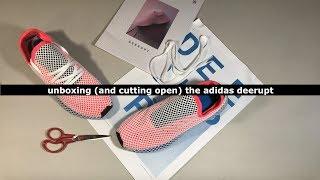 Unboxing (and cutting open) the adidas Deerupt Runner Solar Bird