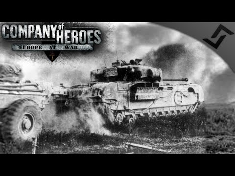 Churchill Crocodile City CQB - Company of Heroes: Europe at War - Caen Campaign Mission 8