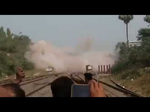 Old Railway Bridge Blast for construction|| Making new India||