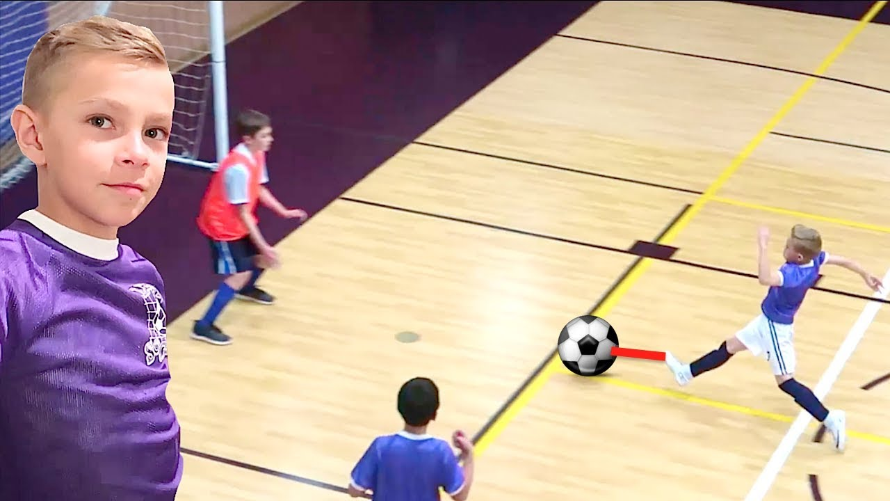 indoor soccer game little kids sports camp baby haircut and