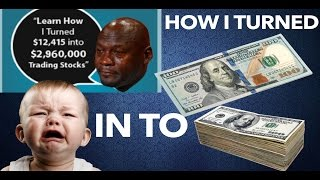 WHY YOU DON'T SHORT PENNY STOCKS - How I Turned $160 INTO $3000 W/ Options Trading - NOT DAY TRADING