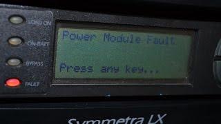 Power module fault exists apc symmetra lx определение неисправного силового модуля