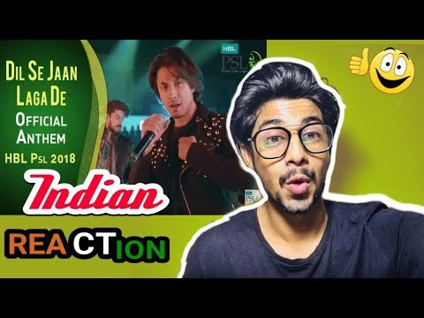 Indian React to Dil Se Jaan Laga De |  Indian React to Pakistani Song | PSL 2018 | Infected Reactor