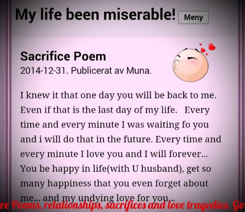 Sacrifice Poem (love) - YouTube