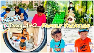 BEACH FAMILY VACATION DAY 1&2 | BEACH + DINOSAUR MUSEUM | MYRTLE BEACH SC