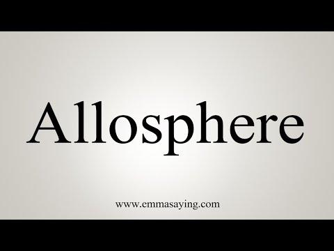 How To Pronounce Allosphere