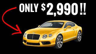 The 9 CHEAPEST Luxury Cars on Earth!!