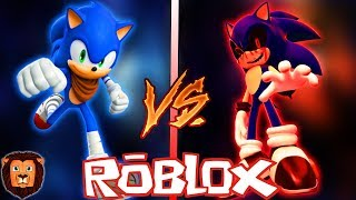 SONIC BOOM VS SONIC BOOM. EXE ? EPIC BATTLE OF CHARACTERS IN ROBLOX