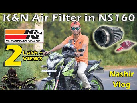 🔥K&N Air Filter Installation and Sound Compare in Bajaj Pulsar NS160 || Nashir Vlog