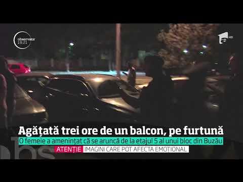 O femeie a amenințat că se aruncă de la etajul cinci al unui bloc din Buzău