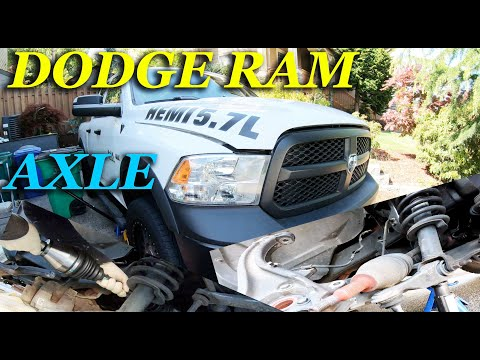 HOW TO REPLACE AXLE ON A 2012 – 2017 DODGE RAM 1500