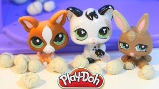 Littlest Pet Shop Snowball Fight Lps Play-doh Dough Snow Balls