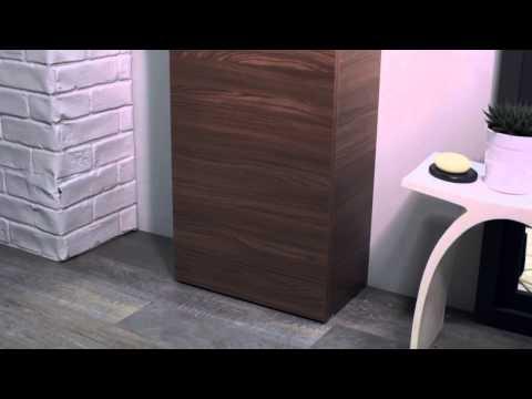 Soakology Phase 450mm Floorstanding Cloakroom Vanity Unit Walnut