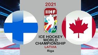 Хоккей Финляндия Канада Финал Чемпионат мира по хоккею 2021 в Риге период 1