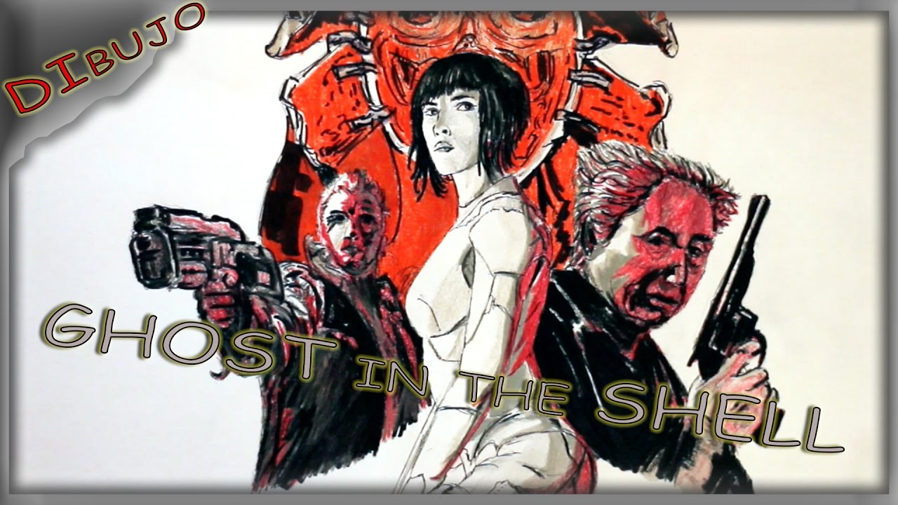 Como Dibujar Ghost In The Shell 2017 How To Draw
