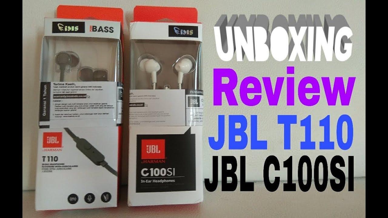 Unboxing Review Headseet Jbl T110 C100si Harga Murah Youtube Original Garansi 1 Tahun