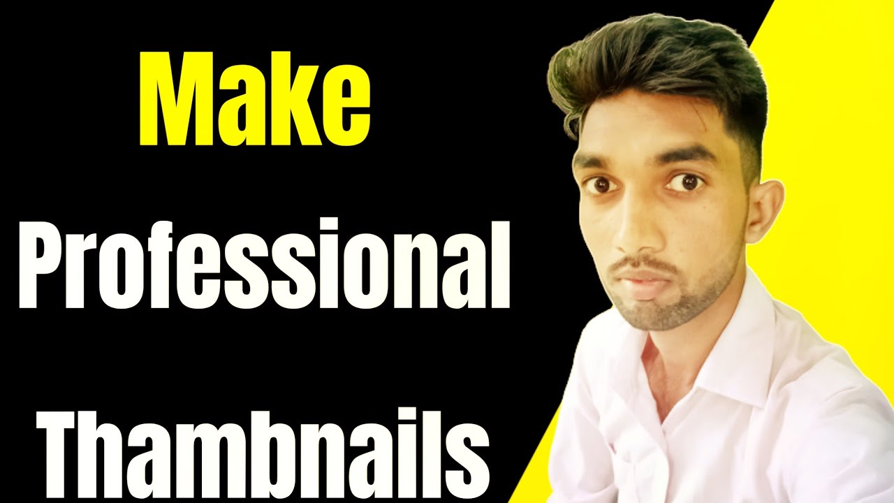 How to Make Professional Thumbnail on Youtube | YouTube Thambnail | Thwmbnail | Thumbnail Size