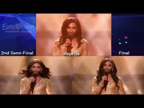 Conchita Wurst - Rise Like A Phoenix (Austria) Semi&Grand Final - Reprise - Split Performances