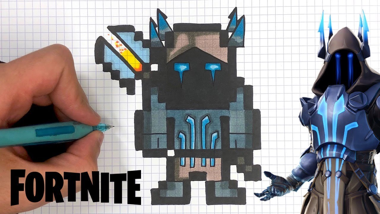 Tuto Dessin Roi Des Glaces Pixel Art Fortnite Youtube