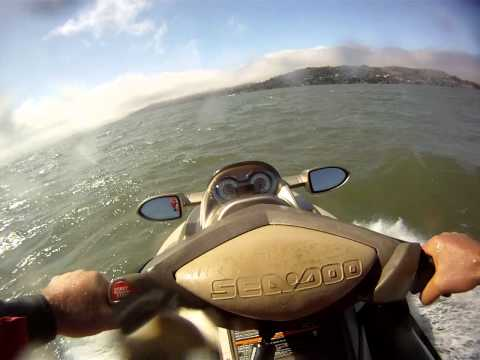 Jet skiing San Francisco bay