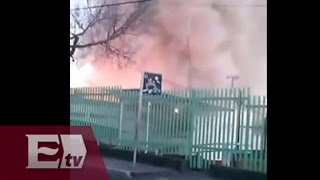 Momento justo de la explosión en Hospital Infantil de Cuajimalpa (VIDEO)