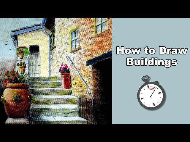 How to Draw Buildings in Pastel Time Lapse