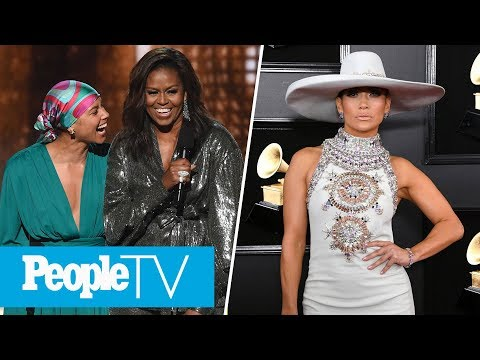 Michelle Obama, Alicia Keys & More Kick Off Grammys, J.Lo Defends Motown Tribute | PeopleTV