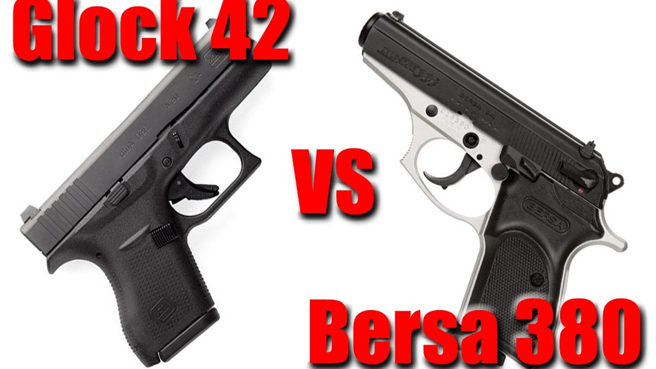 Bersa Thunder 380 Vs Glock 42: Pocket Pistol Shootout
