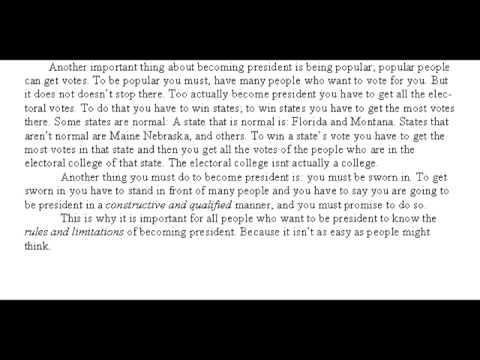 rd grade essay becoming president 3rd grade essay becoming president