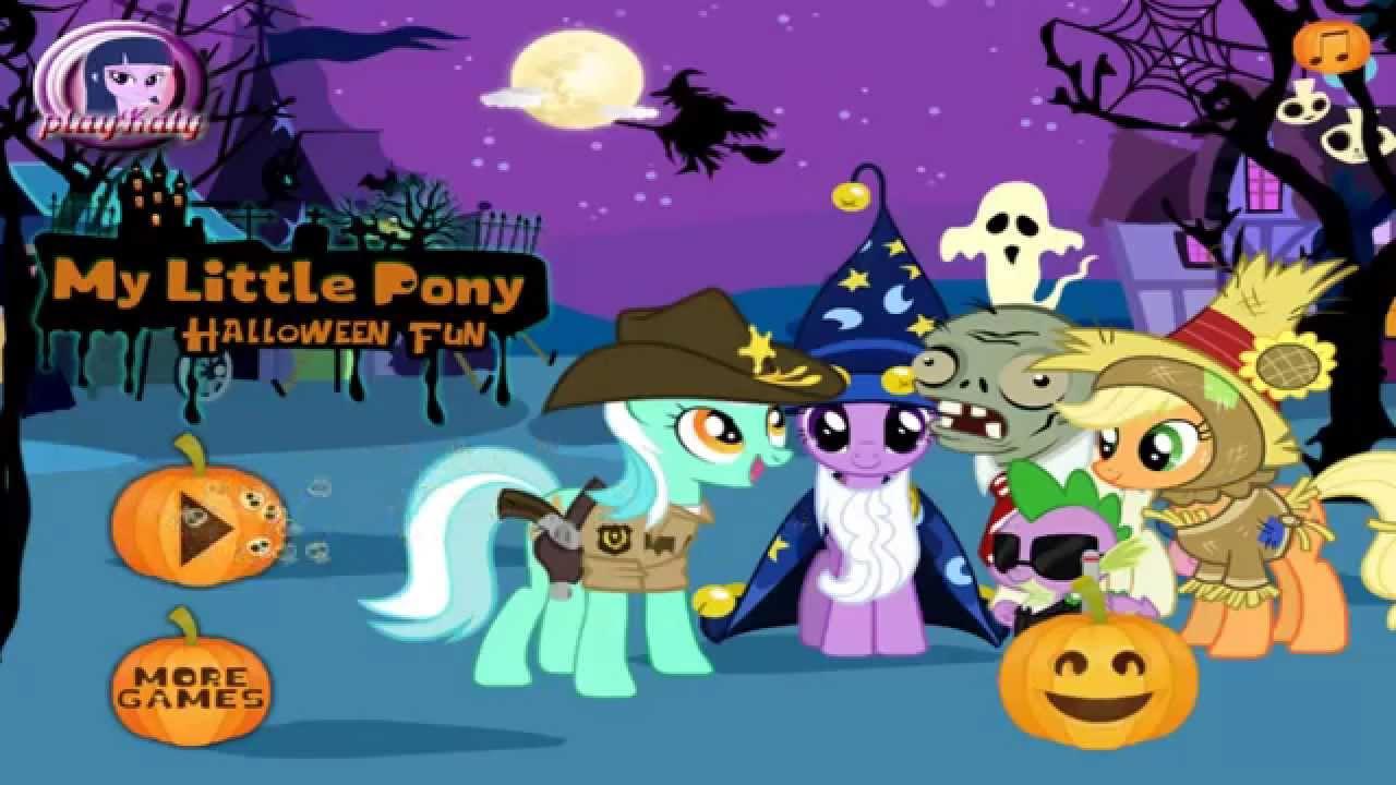 My Little Pony Halloween Fun Kids Online Games Youtube