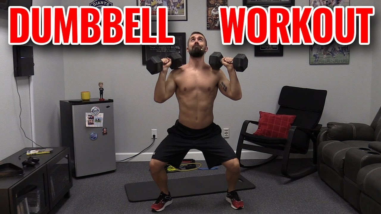 Home Workout With Dumbbells (13 Exercises with 30 lbs)